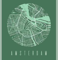 Amsterdam map poster decorative design street map vector