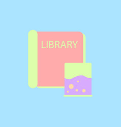 Ancient library book vector