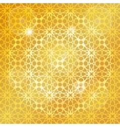 arabic islamic patterngold backgroundgeometrical vector image