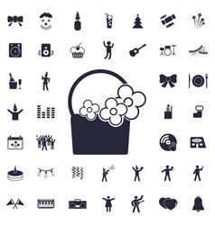 Basket icon vector