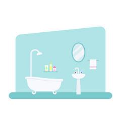 bathroom interior in flat style vector image