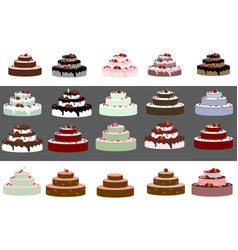 Big wedding or a birthday cake vector