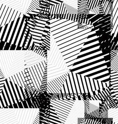 Black and white abstract lines seamless pattern vector