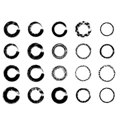 Black ink round stroke on white background of vector