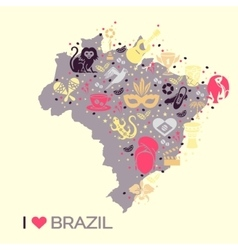 Brazilian thematic print 4 vector
