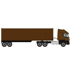 Brown cargo truck vector image