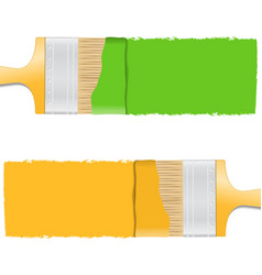 Brushes with paint vector
