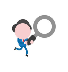 businessman character running and holding vector image