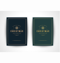 christmas greeting card with snowflake silhouette vector image