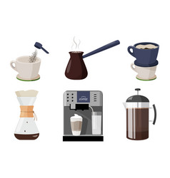 Coffee shop collection few ways to make vector
