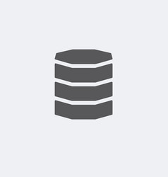 database icon server storage symbol vector image