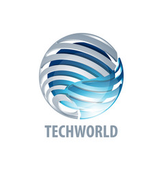 digital sphere global link technology world logo vector image