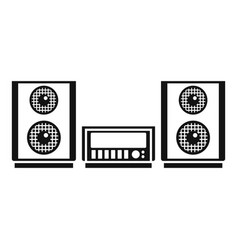 digital stereo system icon simple style vector image