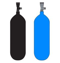 Diving cylinder vector