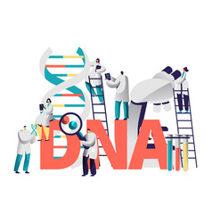 Dna gene medical test typography banner vector