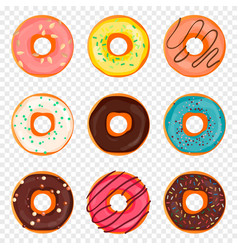 donut with sprinkles and chocolate isolated vector image