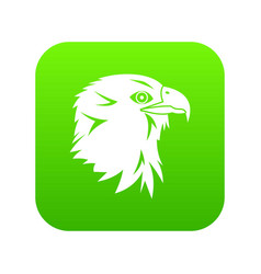 eagle icon digital green vector image