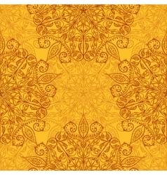 Ethnic decorative handmade orange seamless pattern vector image