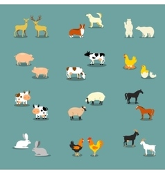 Farm animals and pets vector image