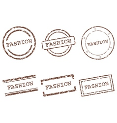 Fashion stamps vector image vector image