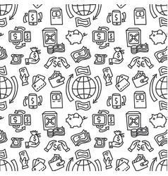finance seamless pattern vector image