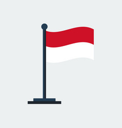 Flag of indonesiaflag stand vector