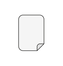 flat design style of blank paper icon on white vector image