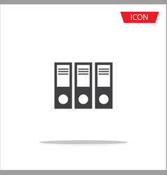 folder icon folder symbols file document vector image vector image