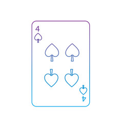 Four of spades french playing cards related icon vector