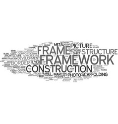 Framework word cloud concept vector