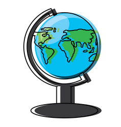 geography tool icon image vector image