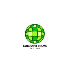globe design logo template vector image
