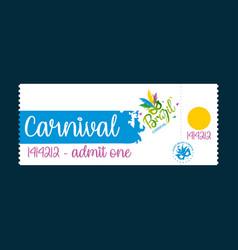 Happy brazilian carnival festival carnival white vector