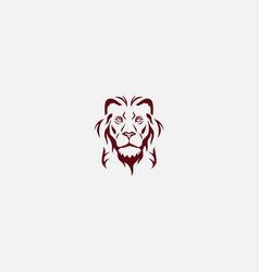 head lion logo concept vector image