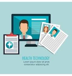 health technology design vector image