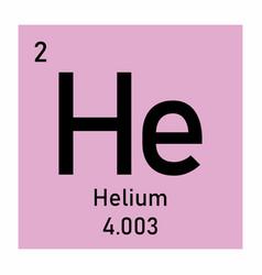 helium symbol vector image