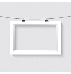 Horisontal frame mockup realistic vector