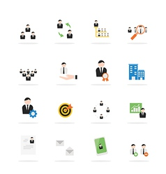 Icon Business management vector image
