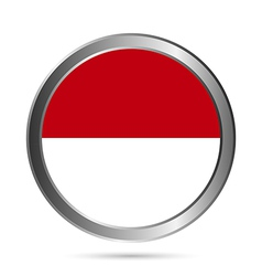 Indonesia flag button vector
