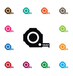 Isolated roulette icon instrument element vector