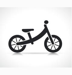 kids balance bike icon vector image