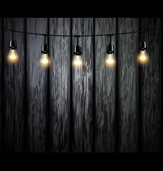 Light bulbs with glowing light vector