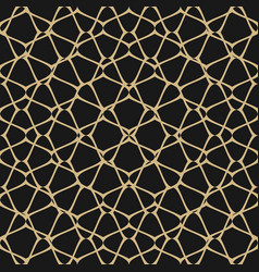 mesh seamless pattern black and gold background vector image
