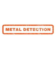 Metal Detection Rubber Stamp vector