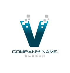 Modern letter v vector
