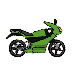 Motorcycle transport adventure image vector