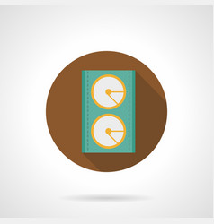 Music equipment brown round icon vector