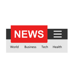 news template sign icon in flat style website vector image
