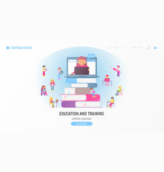 online courses tutorials e-learning vector image