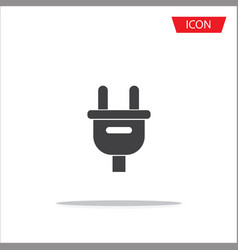plug icon isolated on white background vector image